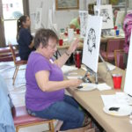 Doris Brandon at Joy of Painting Class