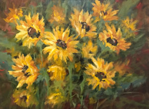 Kansas Sunflowers, Oil