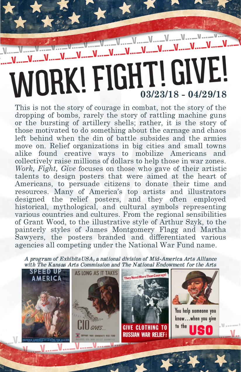 Work, Fight, Give Brochure
