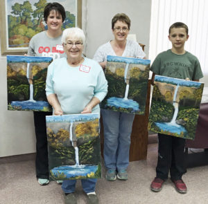 Michelle Shannon, Debra Grammon, A.J. Grammon, & Carl Tallent - 4 Generations of Painters!